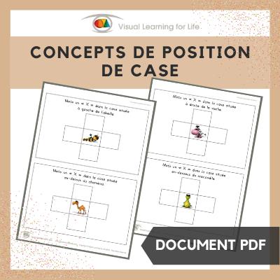 Concepts de position de case