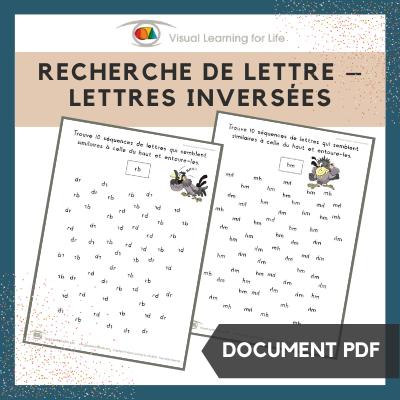 Recherche de lettres – Lettres inversées