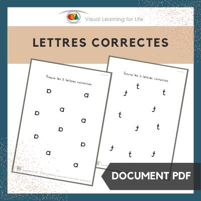 Lettres correctes