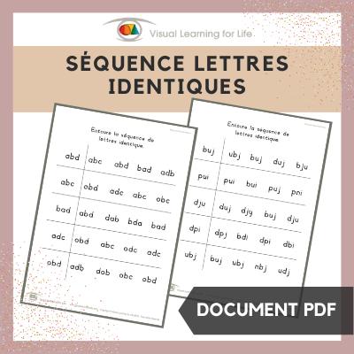 Séquence lettres identiques