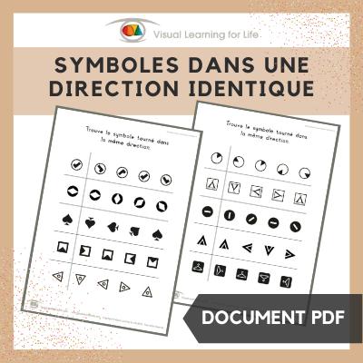 Symboles dans une direction identique