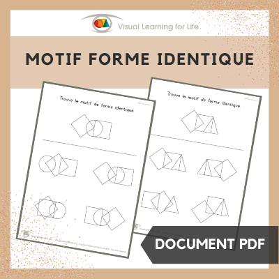 Motif forme identique