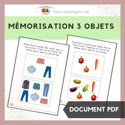 Mémorisation 3 objets