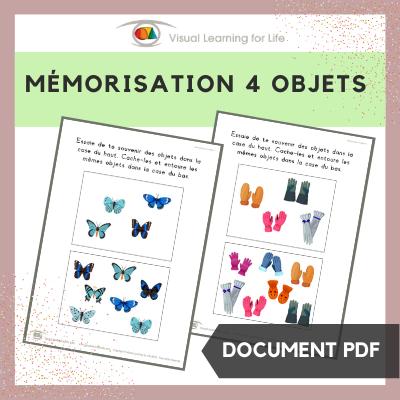 Mémorisation 4 objets