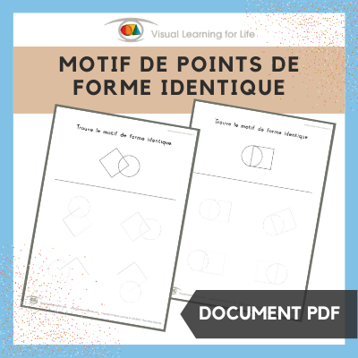 Motif de points de forme identique