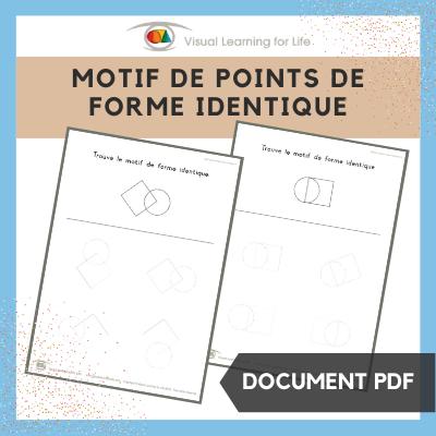 Motif de points de forme identique
