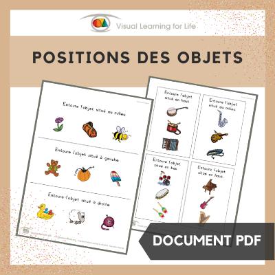 Positions des objets