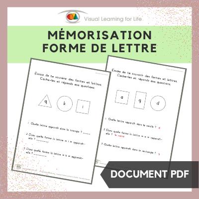 Mémorisation forme de lettre
