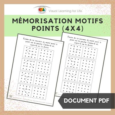 Mémorisation motifs points (4x4)