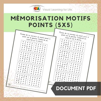 Mémorisation motifs points (5x5)