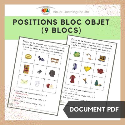 Positions bloc objet (9 blocs)