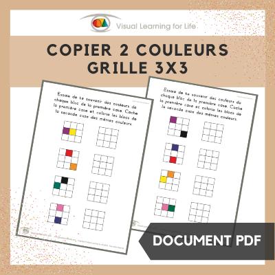 Copier 2 couleurs grille 3x3