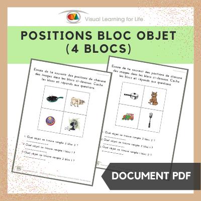 Positions bloc objet (4 blocs)
