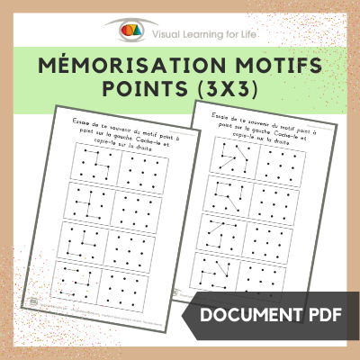 Mémorisation motifs points (3x3)