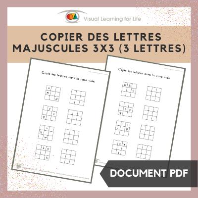 Copier des lettres majuscules 3x3 (3 lettres)