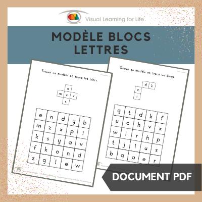 Modèle blocs lettres