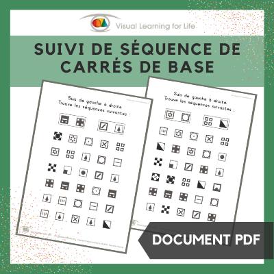 Suivi de séquence de carrés de base