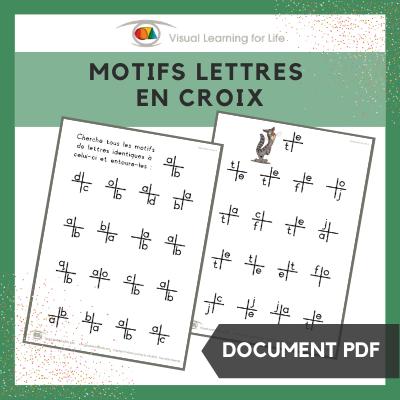 Motifs lettres en croix