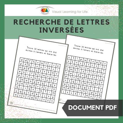 Recherche de lettres inversées