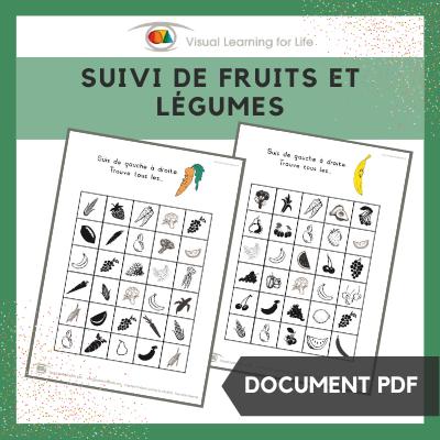 Suivi de fruits et légumes