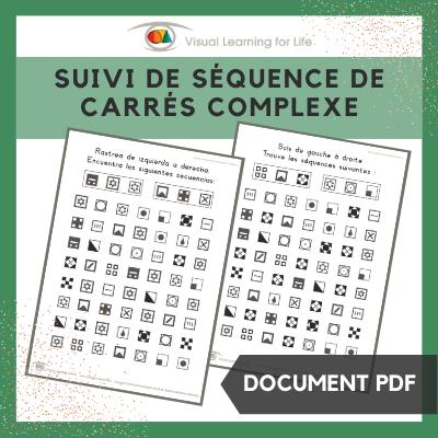 Suivi de séquence de carrés complexe