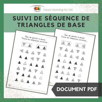 Suivi de séquence de triangles de base