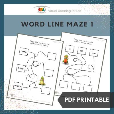 Word Line Maze 1