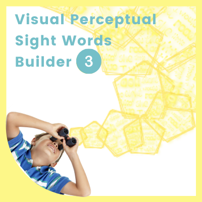 Visual Perceptual SIGHT WORDS Builder 3