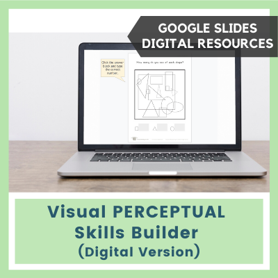 Visual PERCEPTUAL Skills Builder (Google Slides)