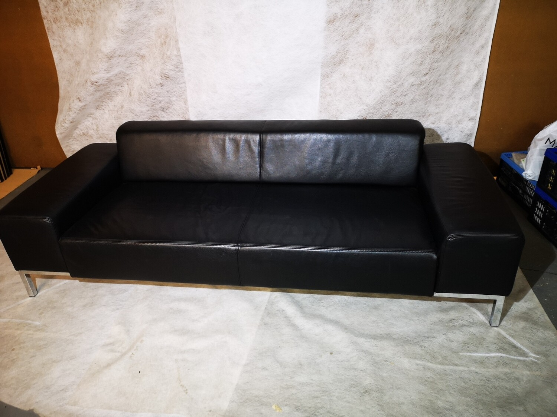 Leder Sofa schwarz