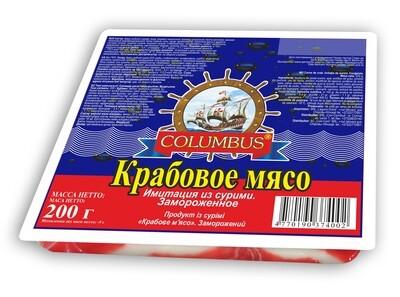 Крабовое мясо Columbus  200гр*25шт