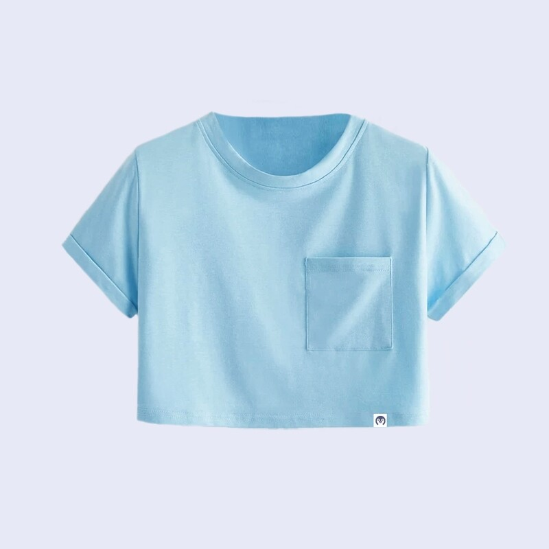 Basic Crop Top With Pocket