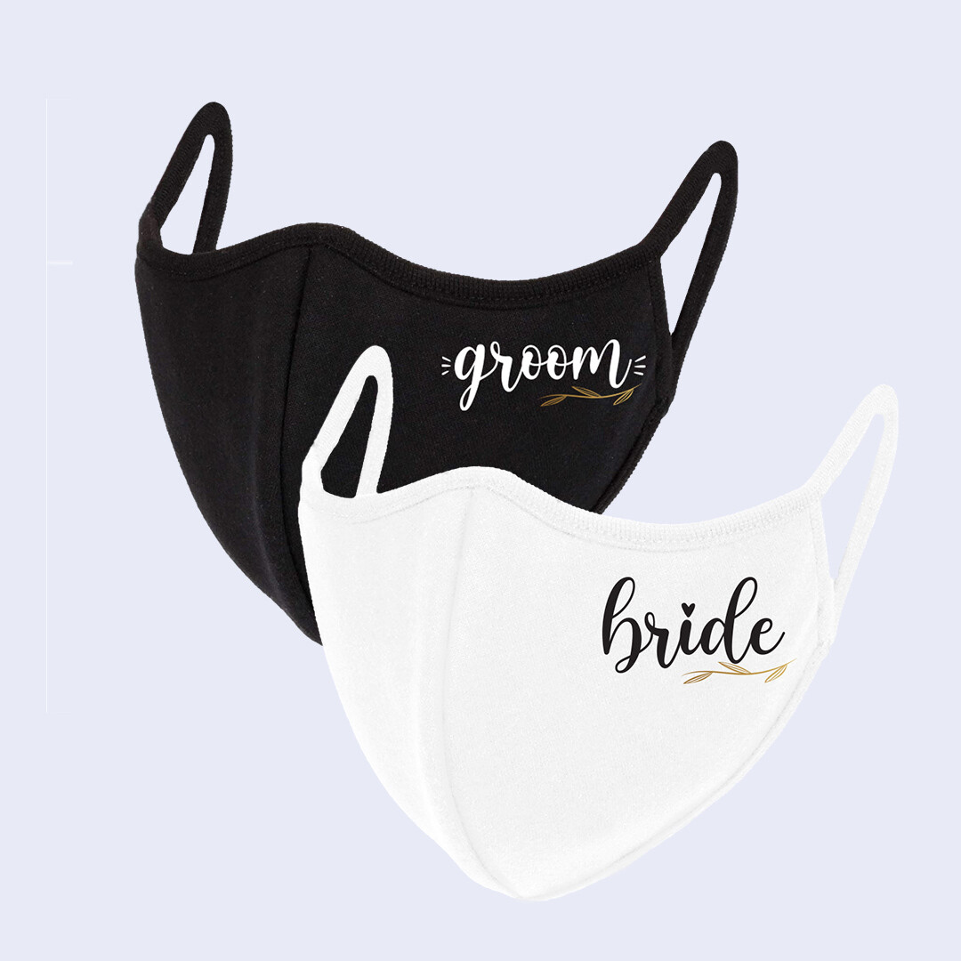 Bride & Groom Mask