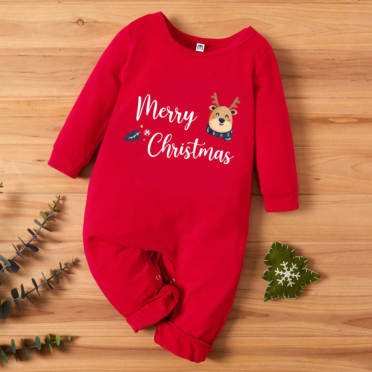 Baby Christmas Dear JumpSuit