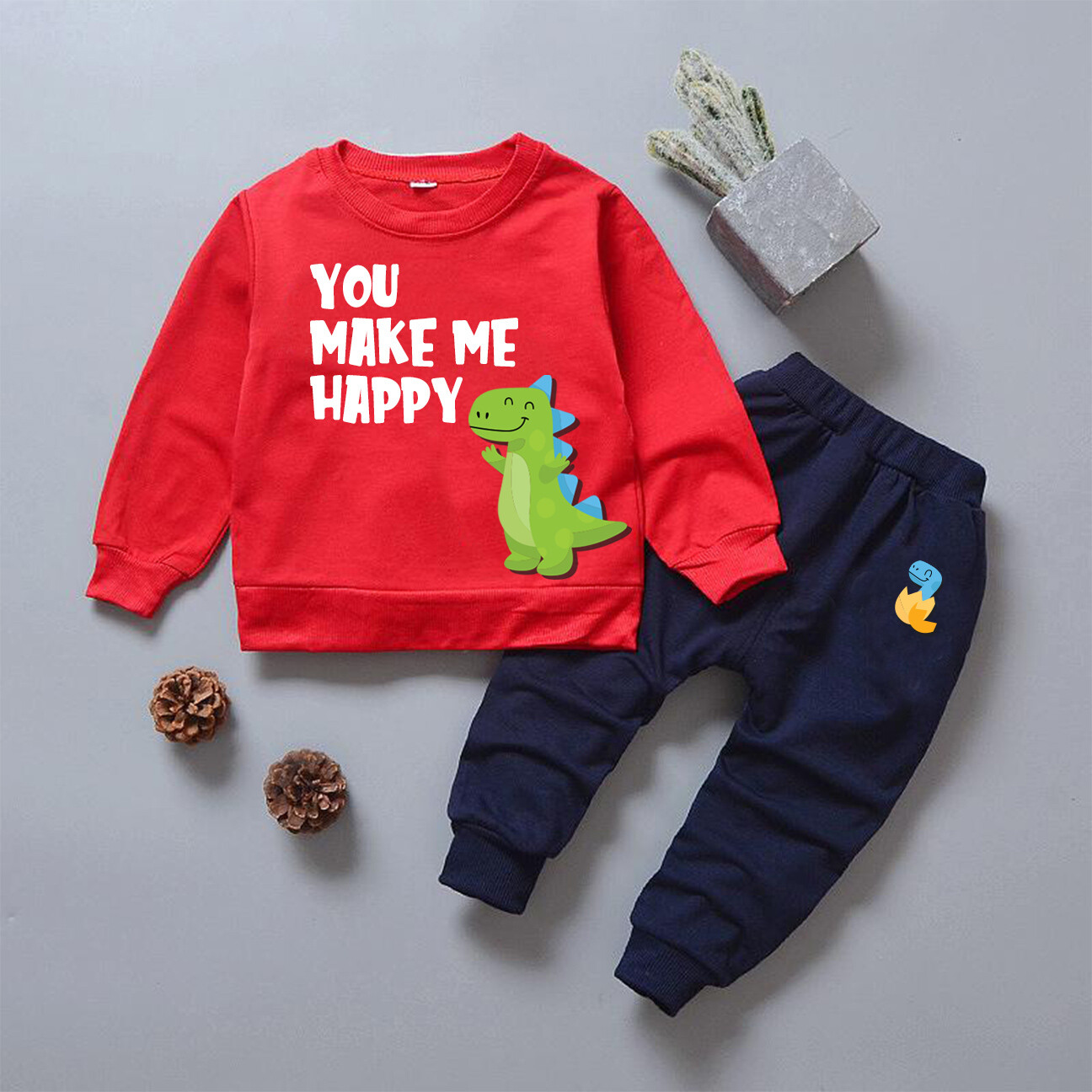 Baby You Make me happy Dinosaur Set