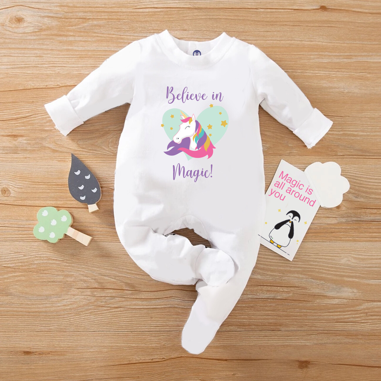 Baby Girl Unicorn Jumpsuit