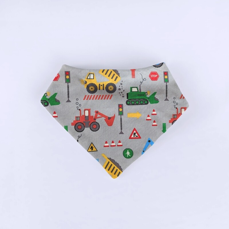 Grey Trucks Bandana Bib