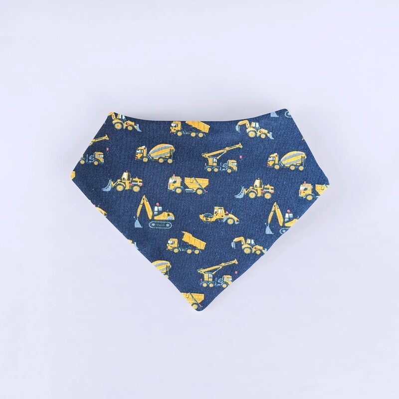 Blue Trucks Bandana Bib