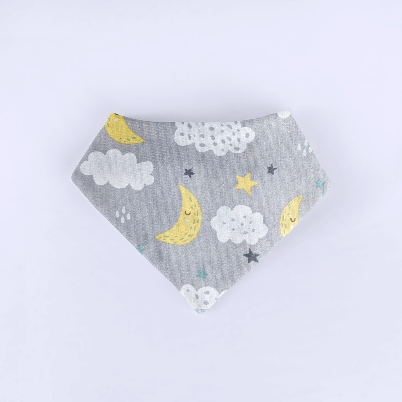 Moon & Clouds Bandana Bib
