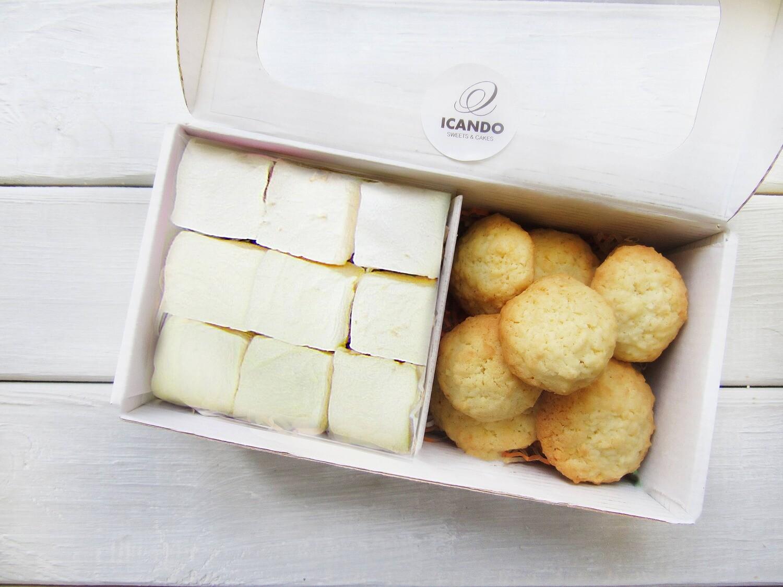 """""""Кокосовое печенье и маршмеллоу ванильный"""", сладкий набор"""