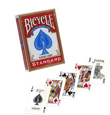 Карты игральные, цвет: красный, 54 карты