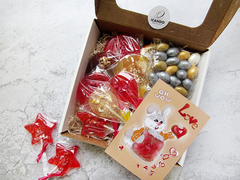 """""""Леденцы и Орех в Шоколаде"""", подарочный набор сладостей для детей"""