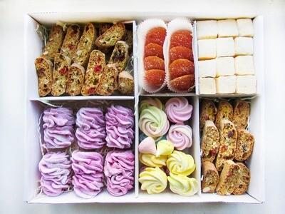 """Зефир, Мармелад, Маршмеллоу, Безе, Кантуччи"", коробка набор сладостей"