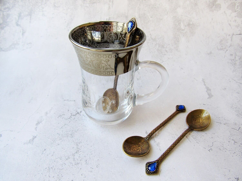 Восточный стаканчик Армуд, с ложечкой