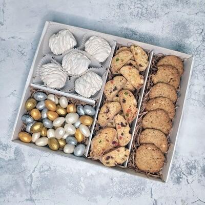 Зефир Яблоко, Орех Шоколад, Кантуччи, Овсяное Печенье, коробка набор сладостей