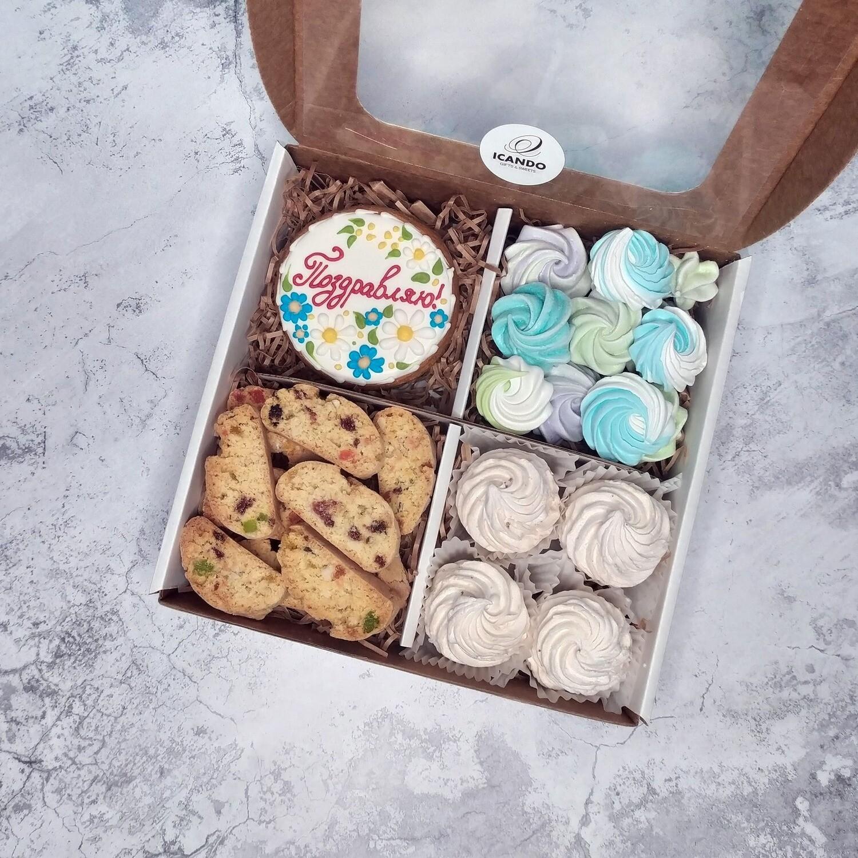 """""""Поздравляю!"""" №2, подарочный набор сладостей"""