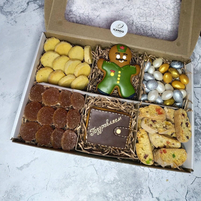 """""""Моему Защитнику"""" №3, подарочный набор сладостей для мужчины"""