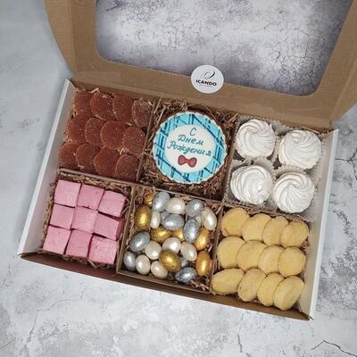 С Днём Рождения 3, подарочный набор сладостей