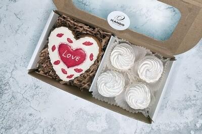 Люблю! 1, подарочный набор сладостей для женщины
