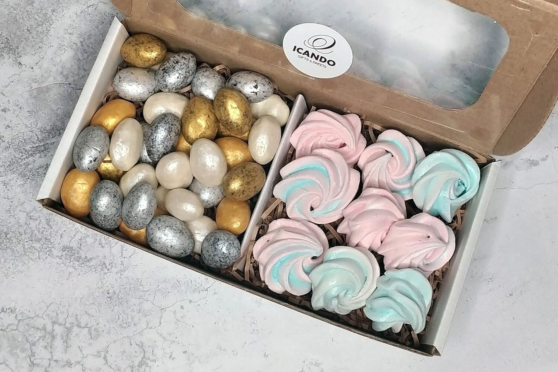 """""""Орех Шоколад, Безе"""", коробка набор сладостей"""